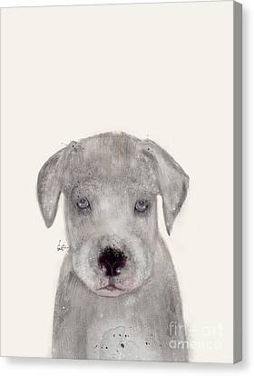 Canvas Print featuring the painting Little Great Dane by Bri B
