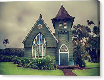 Little Green Church Canvas Print by Laurie Search