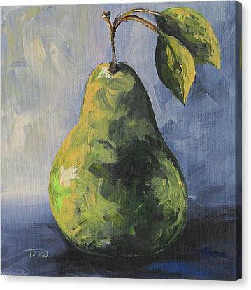 Little Green Pear Canvas Print