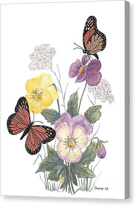 Little Heartsease Canvas Print by Stanza Widen