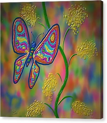 Little Hip Butterfly Canvas Print by Kevin Caudill