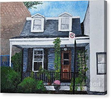 Little House In The City Canvas Print by Reb Frost