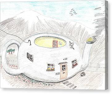 Little House On A Pot Canvas Print