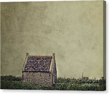 Little House On The Field Canvas Print by Ivy Ho