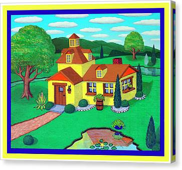 Little House On The Green Canvas Print by Snake Jagger