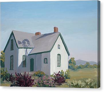 Little House On The Prairie Canvas Print by Mary Giacomini