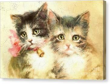 Little Kittens Canvas Print