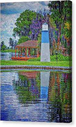 Canvas Print featuring the photograph Little Lake Lightouse by Lewis Mann