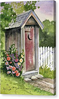 Hollyhock Canvas Print - Little Loo Loo by Marsha Elliott