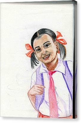 Little Manju Canvas Print by Asha Sudhaker Shenoy