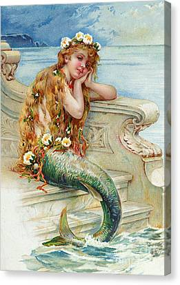 Little Mermaid Canvas Print by E S Hardy