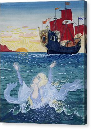 Water Vessels Canvas Print - Little Mermaid by Lorenz Frolich