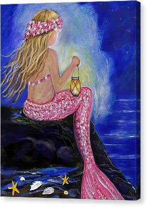 Little Mermaids Light Canvas Print by Leslie Allen
