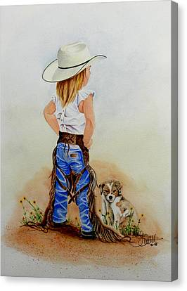 Little Miss Big Britches Canvas Print