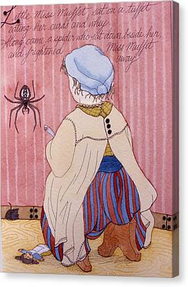 Little Miss Muffet Canvas Print by Victoria Heryet