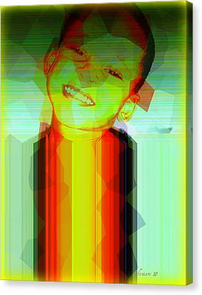 Little Obama Canvas Print by Fania Simon