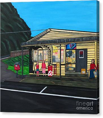 Little Oneroa Store Canvas Print