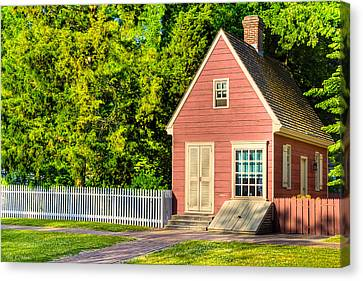 Little Pink Houses - Colonial America Canvas Print by Mark E Tisdale