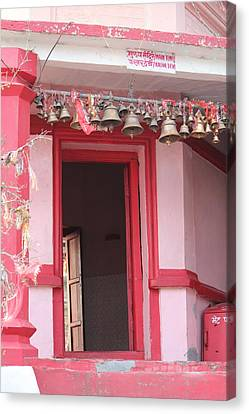 Little Pink Temple Up Close, Almora Canvas Print by Jennifer Mazzucco