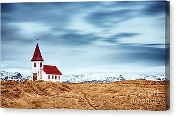 Little Pretty Church Canvas Print by Svetlana Sewell