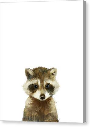 Fauna Canvas Print - Little Raccoon by Amy Hamilton