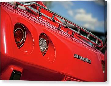 Little Red 1977 Corvette  Canvas Print by Gordon Dean II