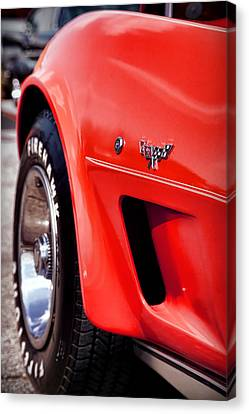 Little Red Corvette Canvas Print by Gordon Dean II