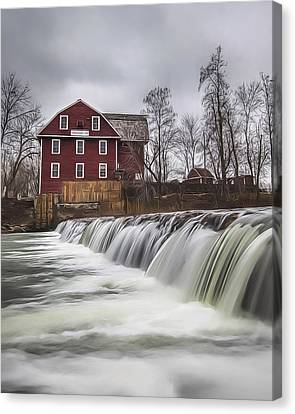 Little Red Mill Canvas Print