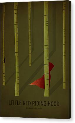 Children Stories Canvas Print - Little Red Riding Hood by Christian Jackson