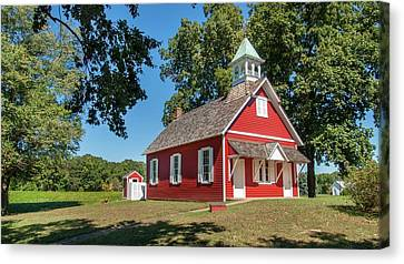 Canvas Print featuring the photograph Little Red School House by Charles Kraus