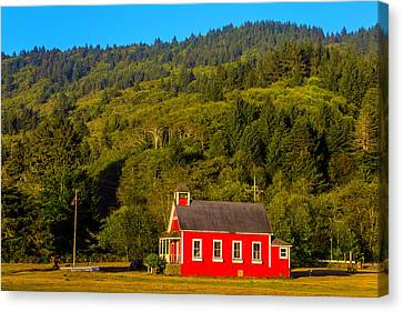 Little Red School House Canvas Print by Garry Gay