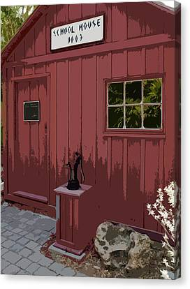 Little Red Schoolhouse Canvas Print by Allan  Hughes