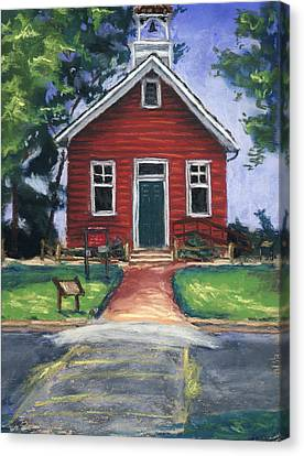 Little Red Schoolhouse Nature Center Canvas Print by Christine Camp
