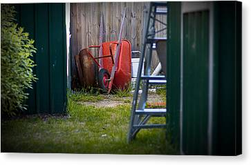 Canvas Print featuring the photograph Little Red Wagon by Tim Nichols
