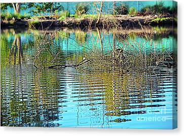 Canvas Print featuring the photograph Little Ripples By Kaye Menner by Kaye Menner