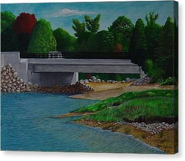 Little River Bridge Canvas Print by Ron Sylvia