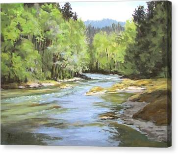 Little River Morning Canvas Print