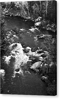 Overhearing Canvas Print - Little River Rapids by George Taylor