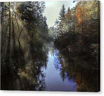 Little River Sunrise Canvas Print
