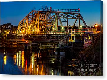 Little River Swing Bridge Canvas Print