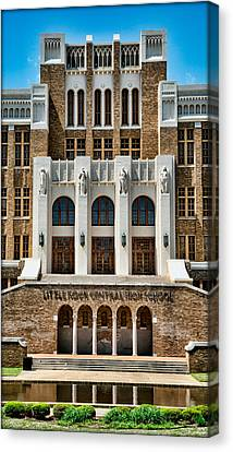 Historic Site Canvas Print - Little Rock Central High School by Stephen Stookey