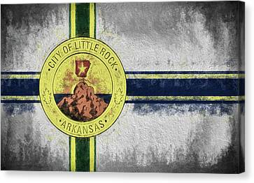 Little Rock City Flag Canvas Print by JC Findley