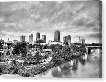 Little Rock In Black And White Canvas Print by JC Findley