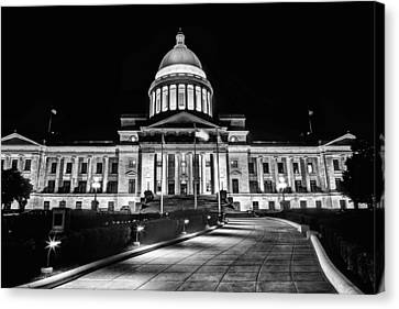 Little Rock State Capitol Building Canvas Print by JC Findley