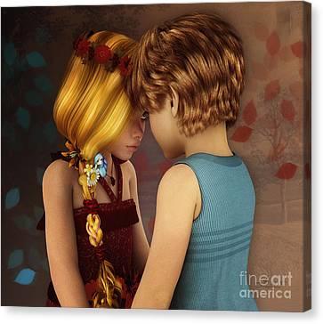 Little Romance Canvas Print by Jutta Maria Pusl
