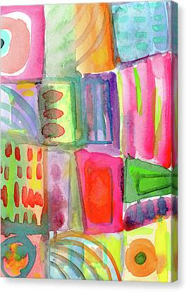 Little Rooms Patchwork 21- Art By Linda Woods Canvas Print by Linda Woods