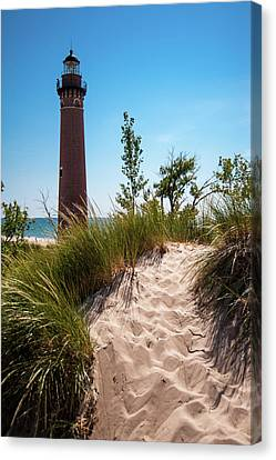 Little Sable Light Station - Film Scan Canvas Print by Larry Carr