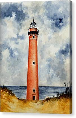 Little Sable Point Lighthouse Canvas Print by Michael Vigliotti