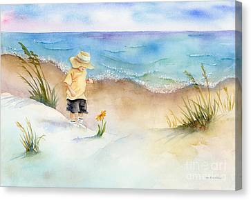 Little Saint Canvas Print by Amy Kirkpatrick