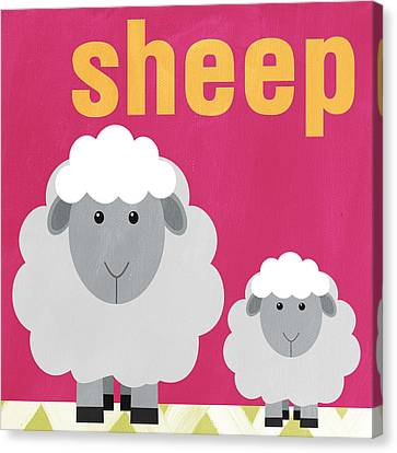 Little Sheep Canvas Print by Linda Woods